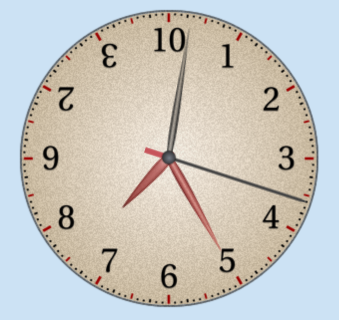 Dozenal clock face